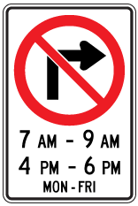 Rb-11A-no-right-turn-times