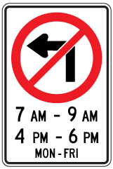 Rb-12A-no-left-turn-timings